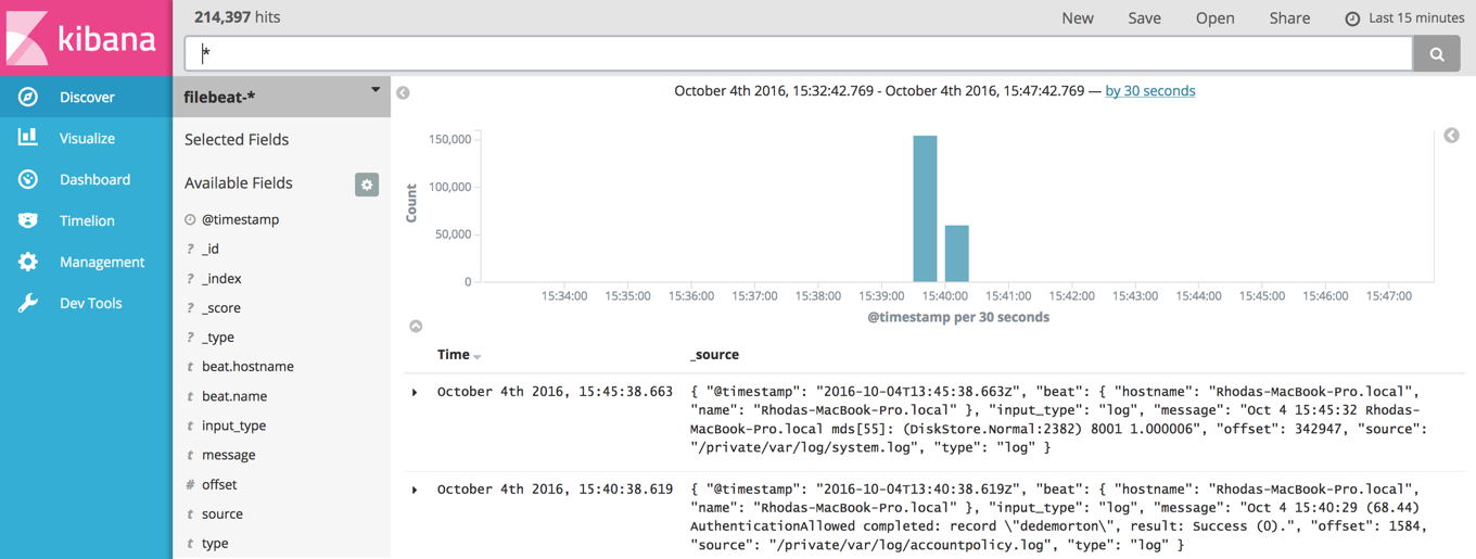 Step 6: Loading the Kibana Index Pattern   Filebeat Reference [5 5