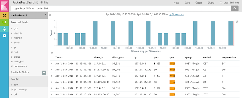Kibana Queries and Filters | Packetbeat Reference [5 2