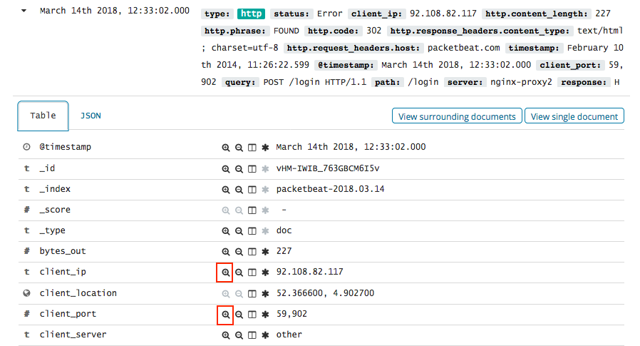 Kibana queries and filters | Packetbeat Reference [7 3] | Elastic