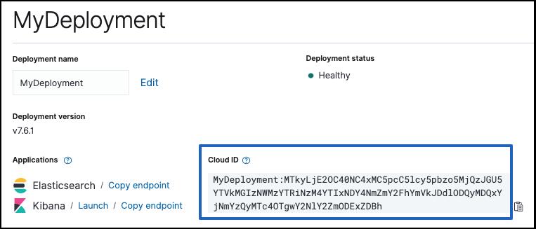 Configure Beats and Logstash with Cloud ID | Elastic Cloud