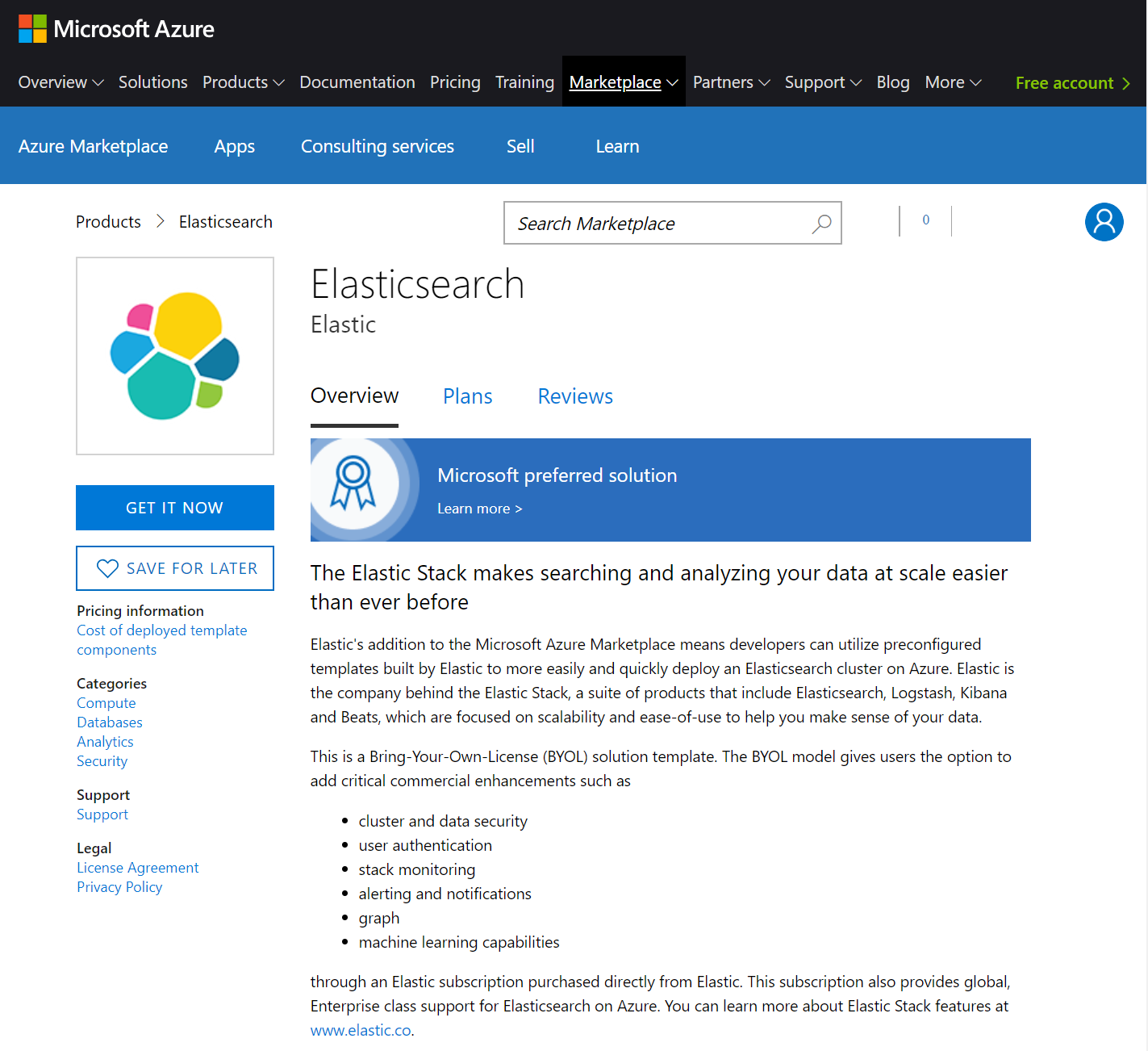 Getting started with the Azure Marketplace   Deploying with