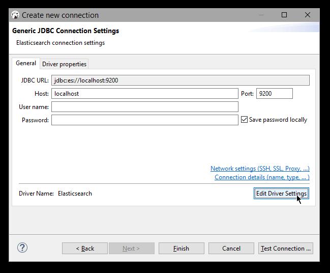 DBeaver | Elasticsearch Reference [6 5] | Elastic