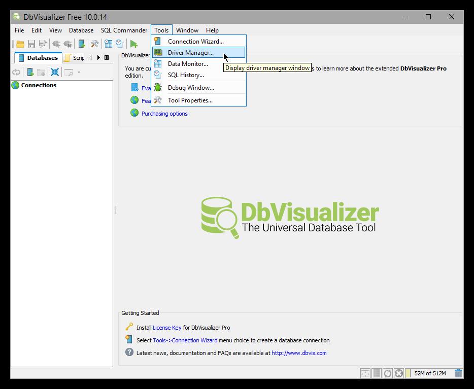 DbVisualizer | Elasticsearch Reference [6 5] | Elastic