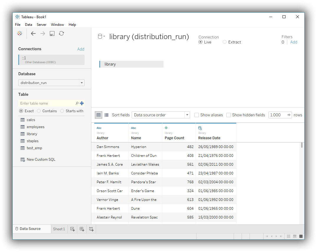 Tableau Desktop | Elasticsearch Reference [6 7] | Elastic