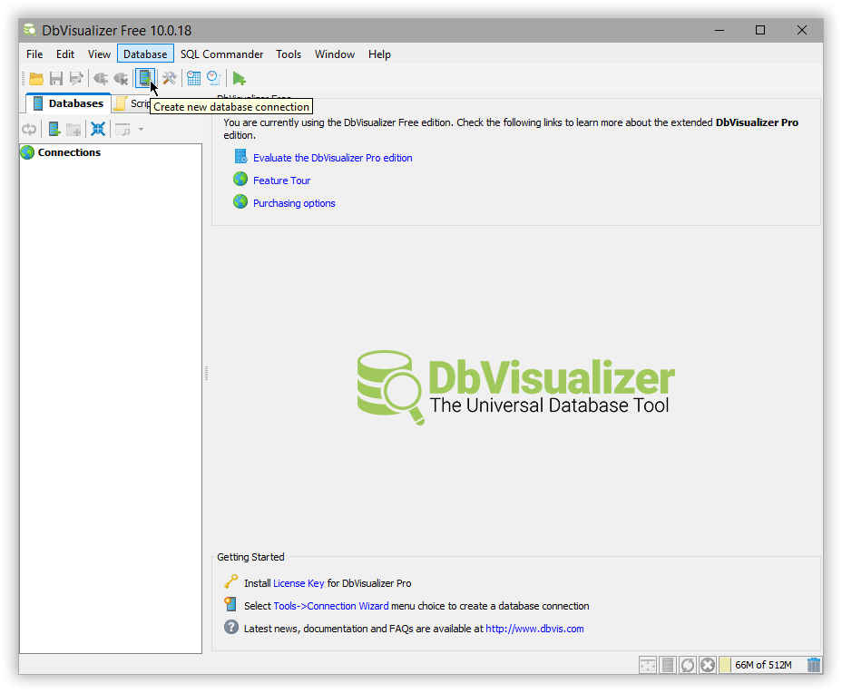 DbVisualizer | Elasticsearch Reference [7 2] | Elastic