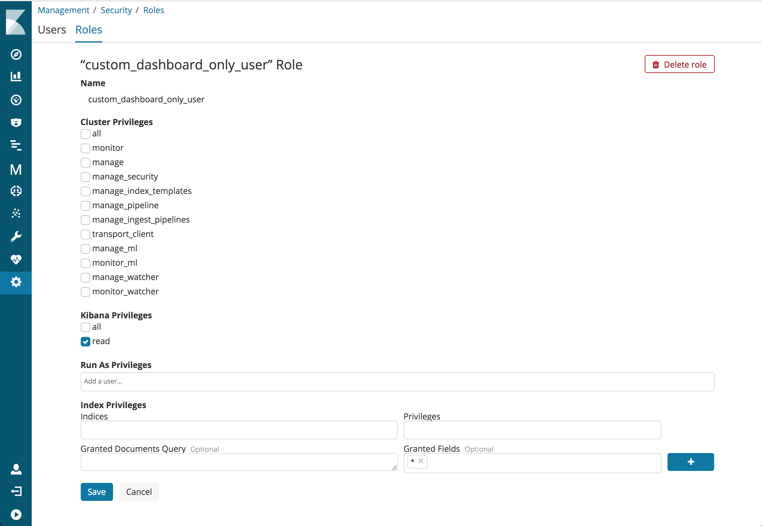 Advanced Configuration for Dashboard Only Mode   Kibana User